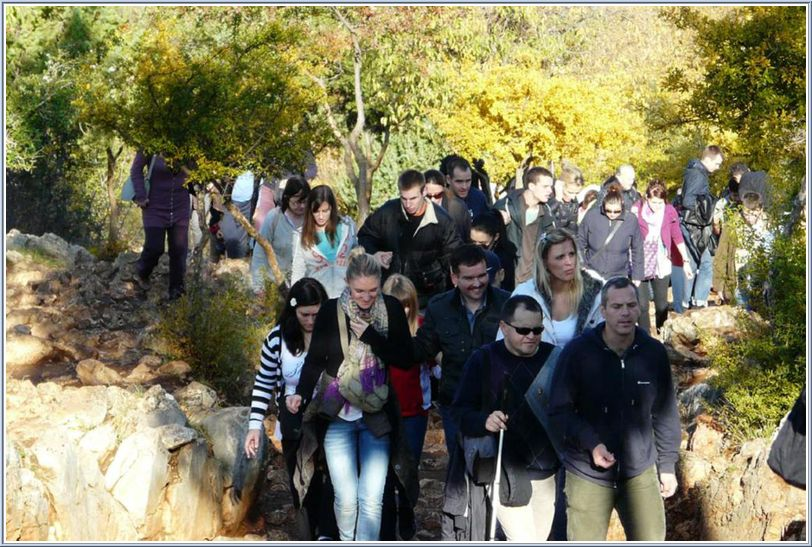 Climbing the Apparition Hill in Medjugorje