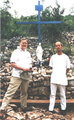 Phil and Mike at the Blue Cross in Medjugorje