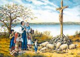 A traditional Catholic Easter Scene