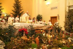Holy Mass in St. James Church with Christmas Crib