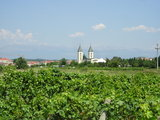 The Medjugorje church behind the way on Krizevac