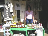 Selling honey and spirits at Medjugorje