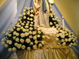 Decoration of Statue of Our Lady of Lourdes at the St. James Church