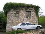 House and White Mercedes in Medjugorje