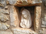 Statue of Our Lady, Castle House in Medjugorje