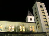 East side of St. James Church at the night