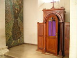 The confessional inside Siroki Brijeg Church