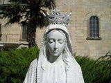 Statue of Our Lady from the monastery garden (detail)