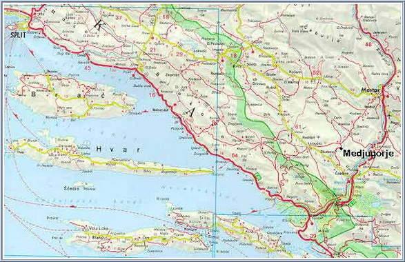 Medjugorje Bosnia  city photos gallery : Medjugorje Map 8 Medjugorje, Mostar