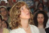 Marija during apparition