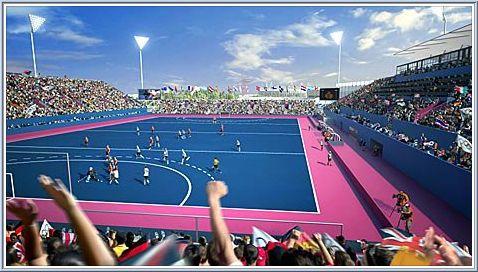 Riverbank Arena in London, the Olympic hockey stadium