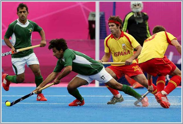 From Spain's opening 1-1 draw with Pakistan in the Olympic hockey tournament on Monday