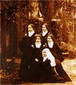 Therese with her sisters and cousin; March 1896.