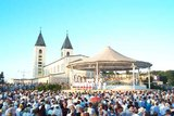 Pilgrims in front of the St. James Church