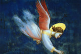Scenes from the Life of Joachim.. Joachim's Dream, detail of an angel, 1305-13, fresco, Arena Chapel at Padua, Italy.