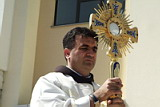 Dr. Sesar with Monstrance