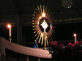 Mostrance at the evening adoration