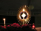 Evening adoration with Magna Monstrance
